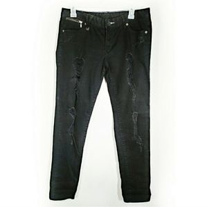 AX Armani Exchange distressed black jeans size 10